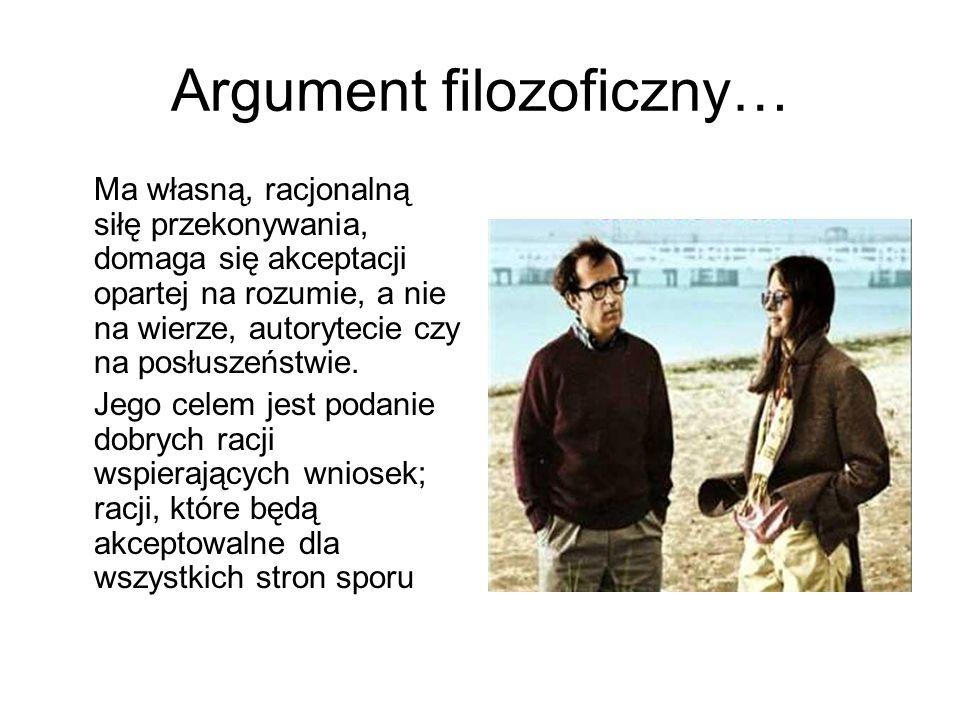 Argument filozoficzny…