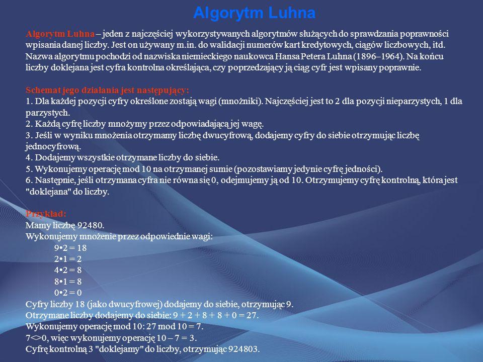 Algorytm Luhna