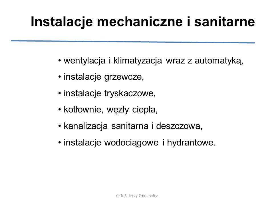 Instalacje mechaniczne i sanitarne