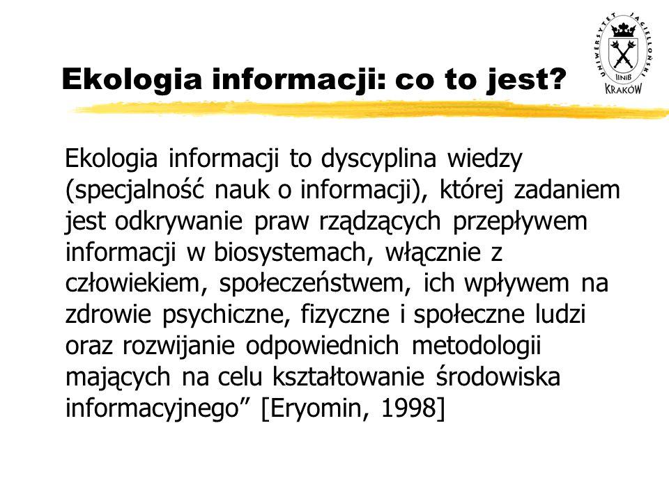 Ekologia informacji: co to jest