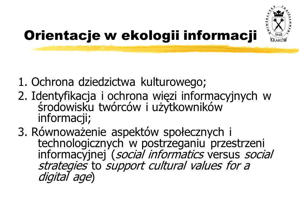Orientacje w ekologii informacji