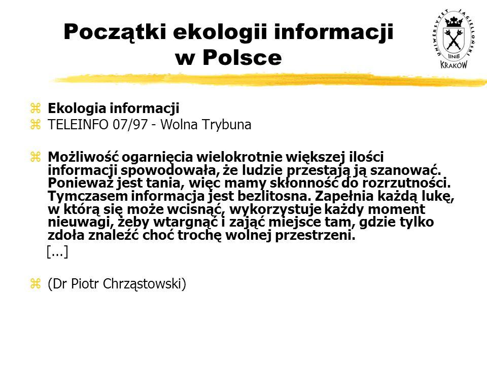 Początki ekologii informacji w Polsce