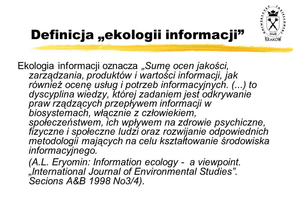 """Definicja """"ekologii informacji"""