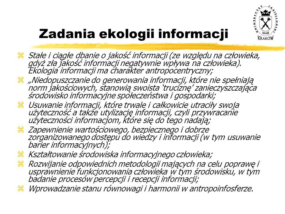 Zadania ekologii informacji