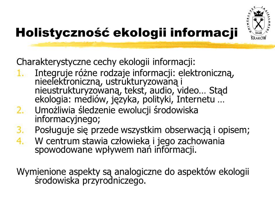 Holistyczność ekologii informacji