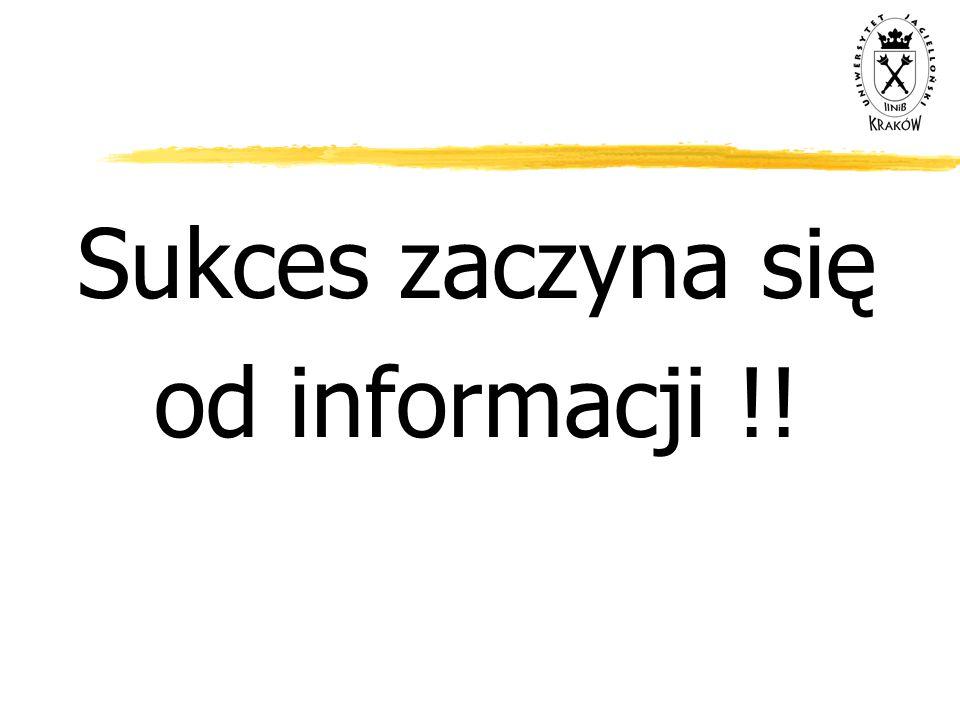 Sukces zaczyna się od informacji !!