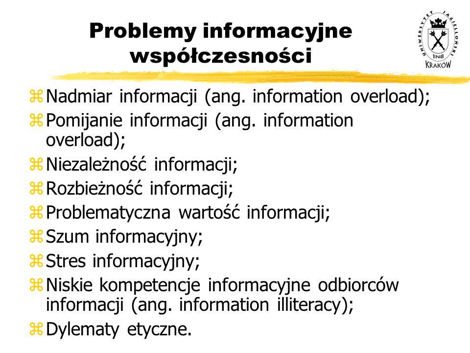 Problemy informacyjne współczesności