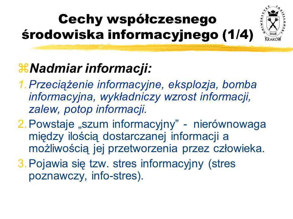 Cechy współczesnego środowiska informacyjnego (1/4)