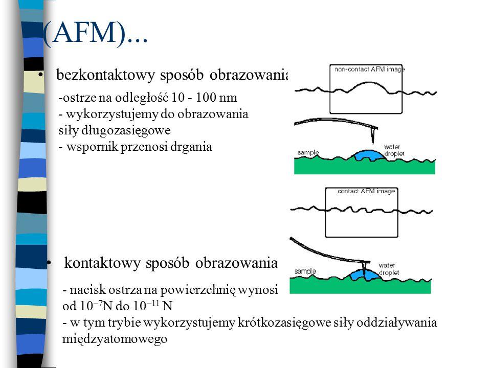 (AFM)... bezkontaktowy sposób obrazowania