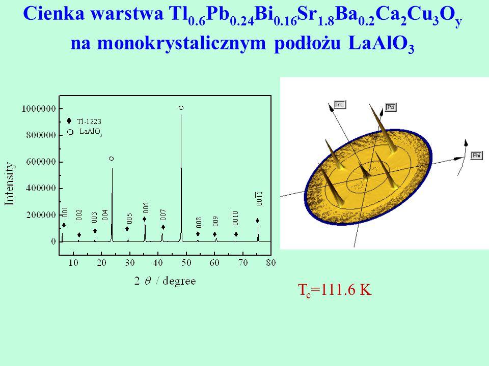Cienka warstwa Tl0. 6Pb0. 24Bi0. 16Sr1. 8Ba0