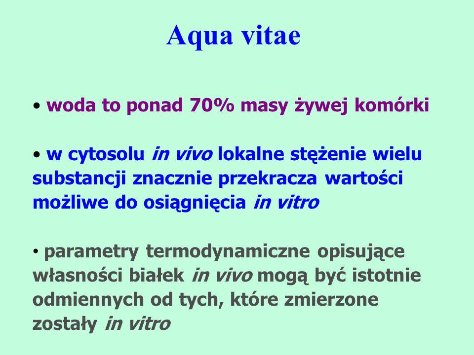 Aqua vitae woda to ponad 70% masy żywej komórki