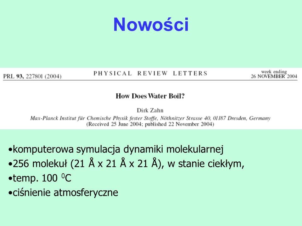 Nowości komputerowa symulacja dynamiki molekularnej