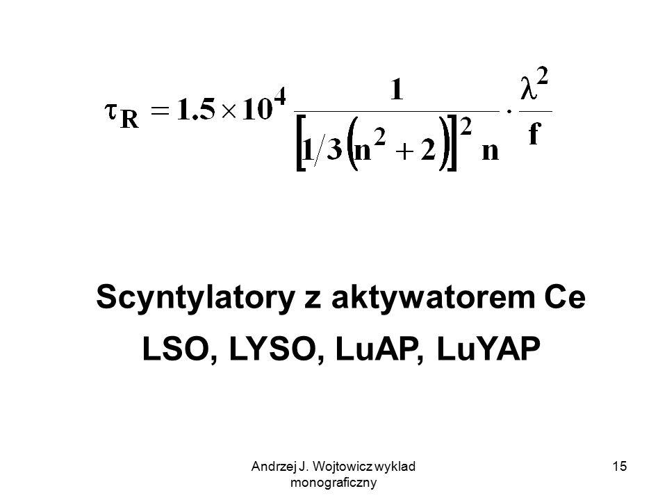Scyntylatory z aktywatorem Ce LSO, LYSO, LuAP, LuYAP