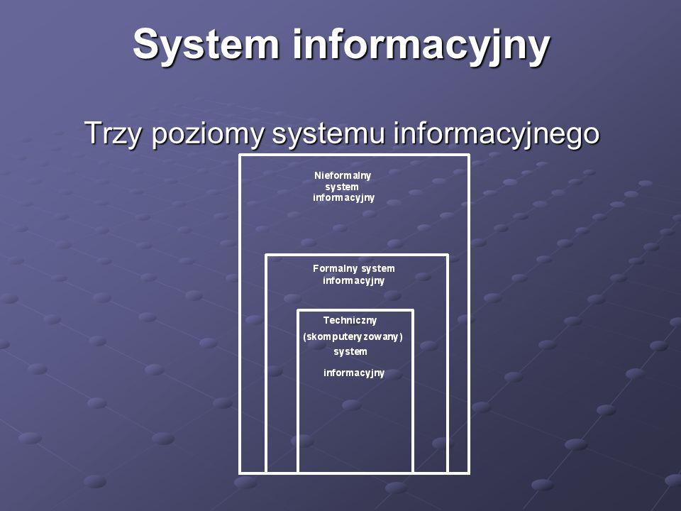 Trzy poziomy systemu informacyjnego