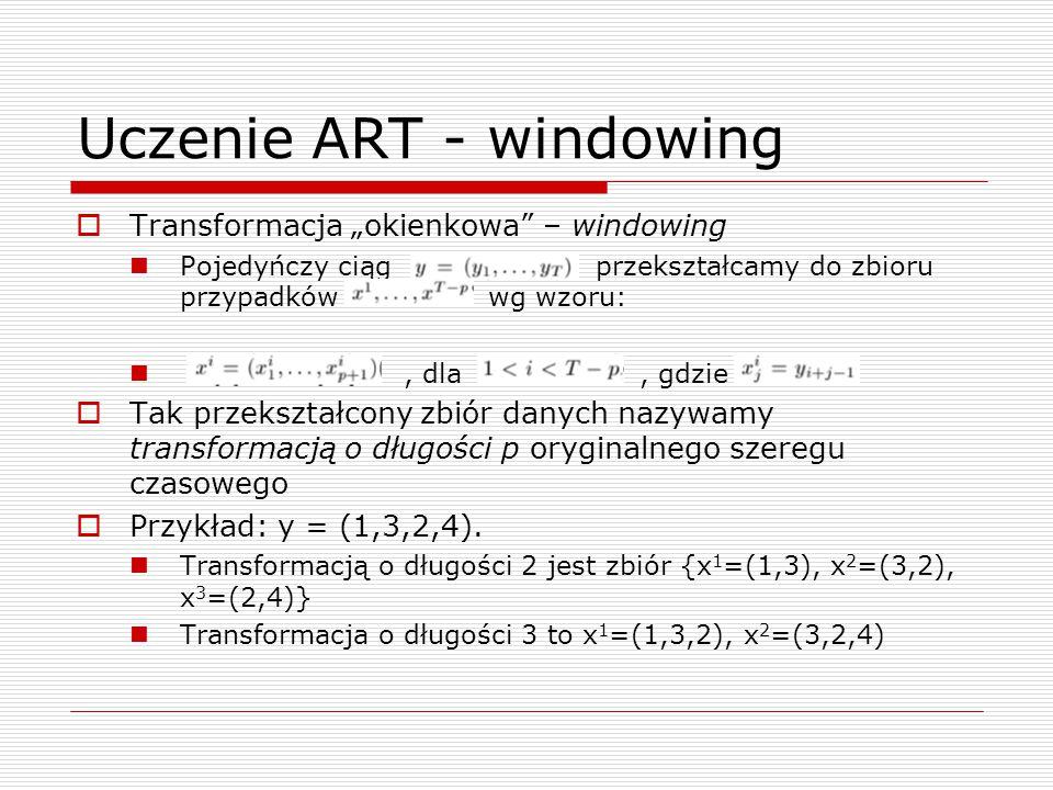 Uczenie ART - windowing