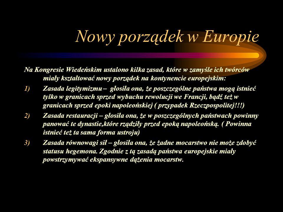 Nowy porządek w Europie