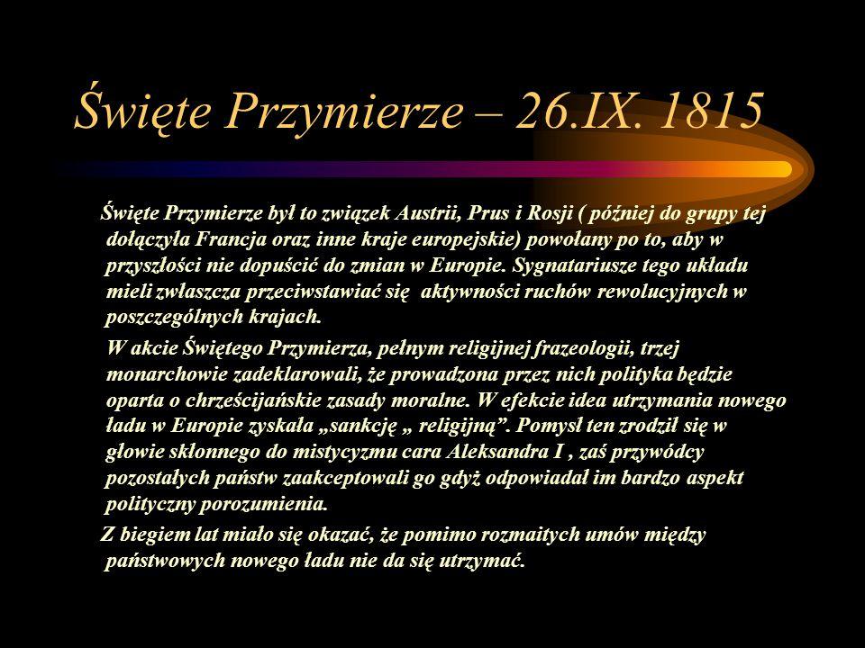 Święte Przymierze – 26.IX. 1815