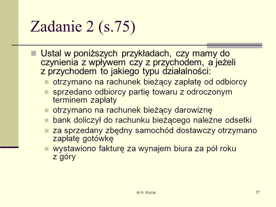 Zadanie 2 (s.75)