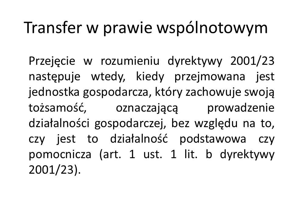 Transfer w prawie wspólnotowym