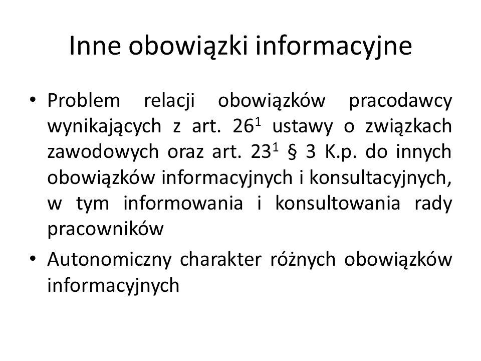 Inne obowiązki informacyjne
