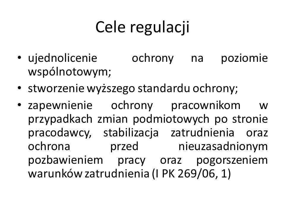 Cele regulacji ujednolicenie ochrony na poziomie wspólnotowym;