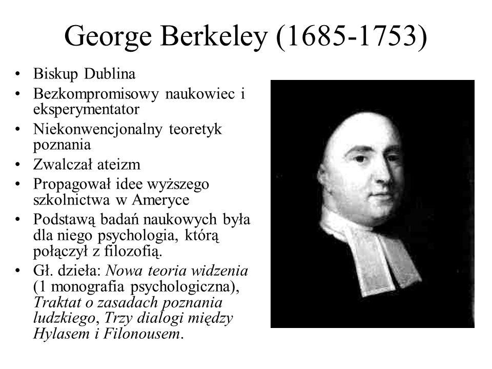 George Berkeley (1685-1753) Biskup Dublina