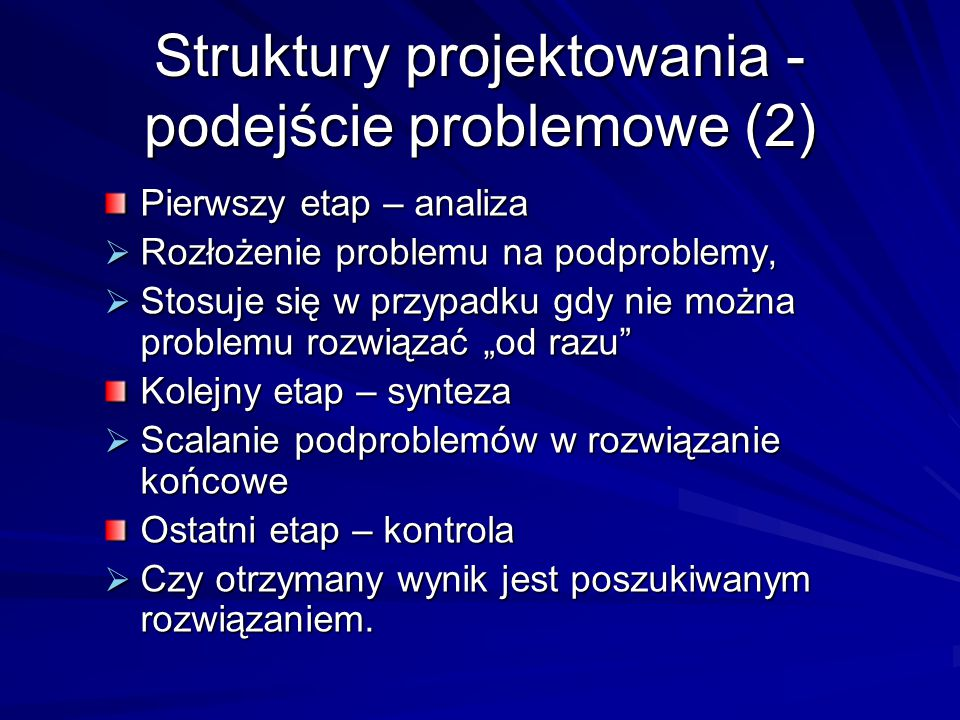 Struktury projektowania - podejście problemowe (2)