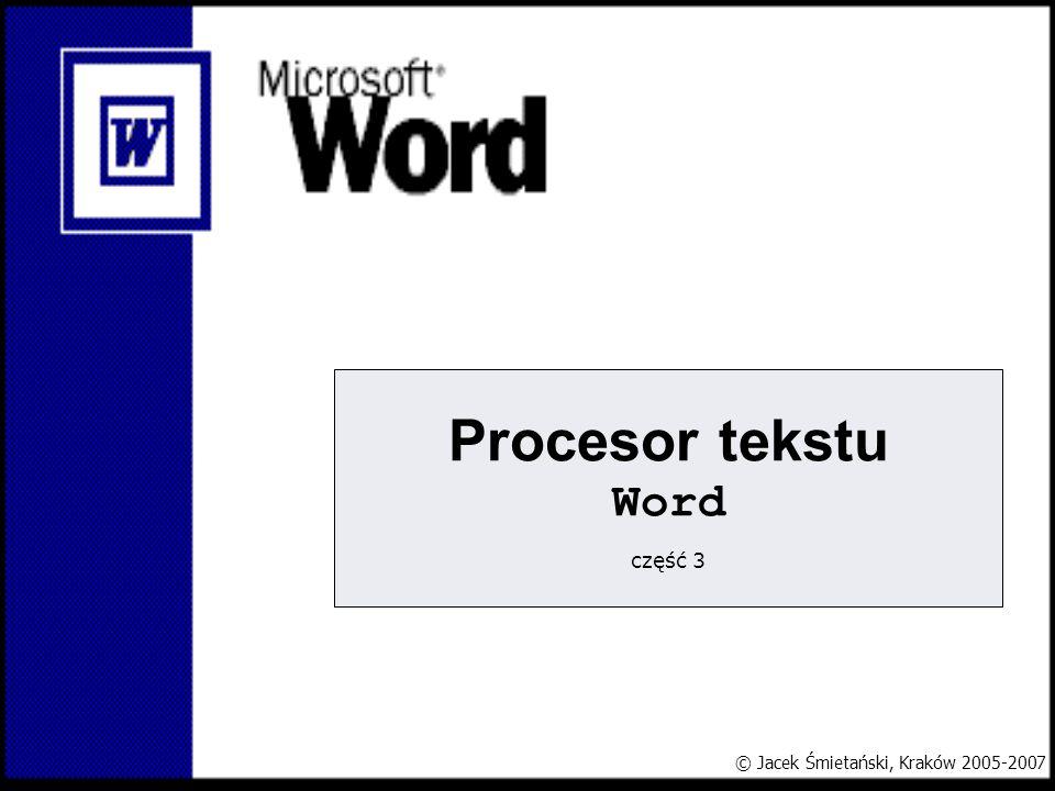 Procesor tekstu Word część 3