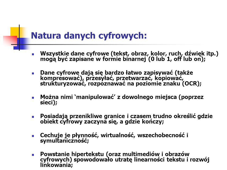 Natura danych cyfrowych: