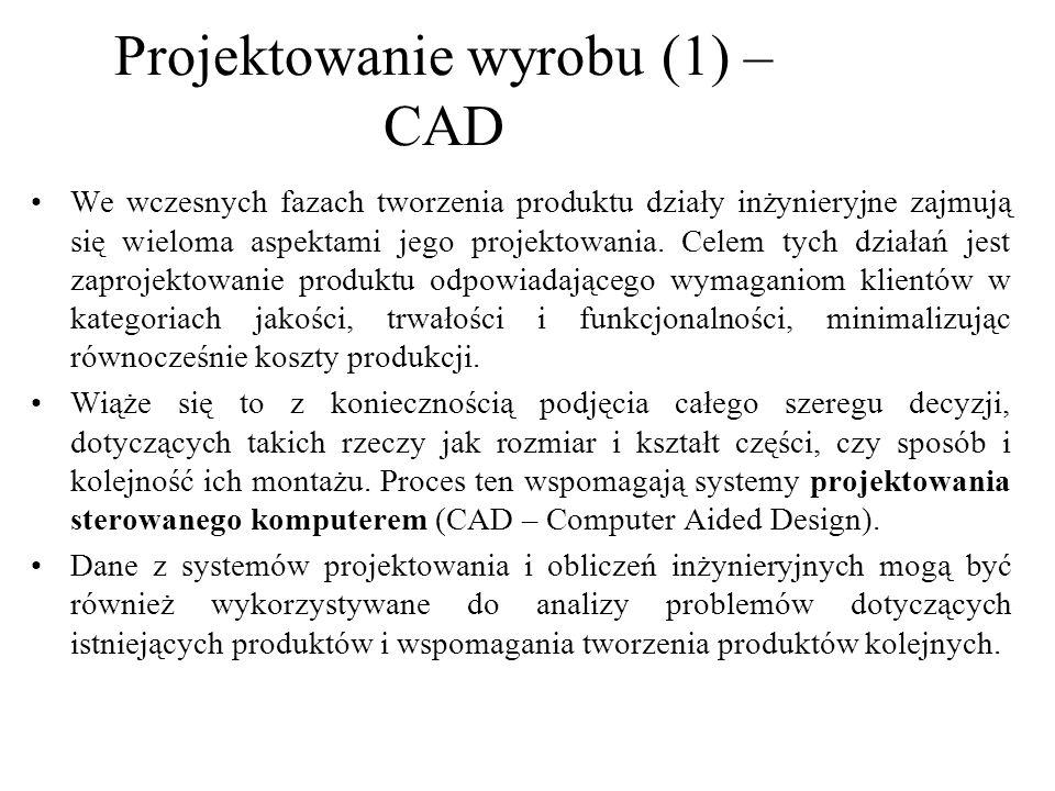 Projektowanie wyrobu (1) – CAD