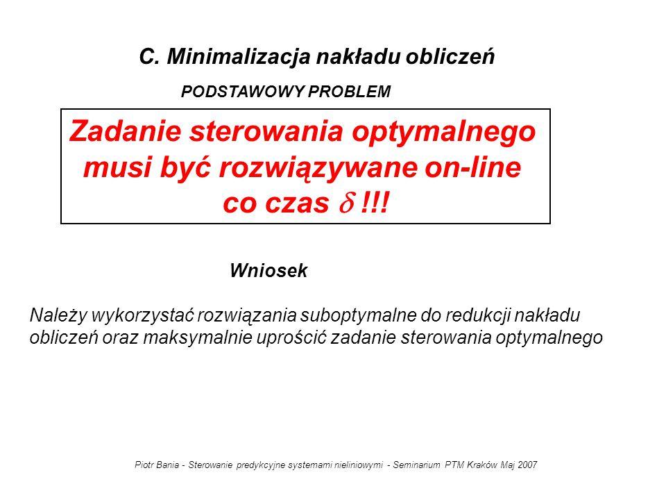 C. Minimalizacja nakładu obliczeń