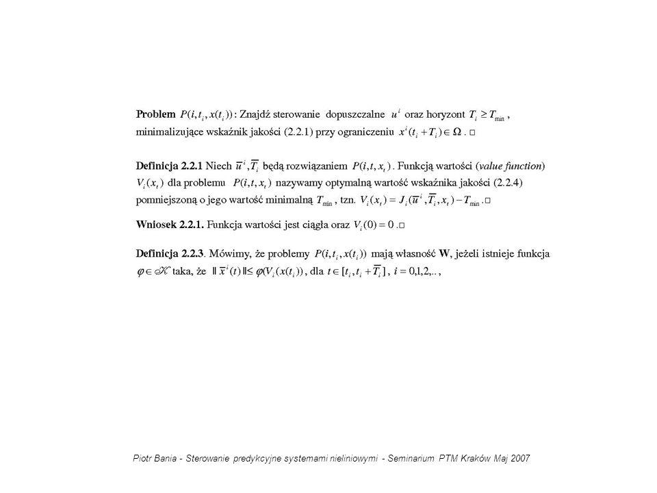 Piotr Bania - Sterowanie predykcyjne systemami nieliniowymi - Seminarium PTM Kraków Maj 2007
