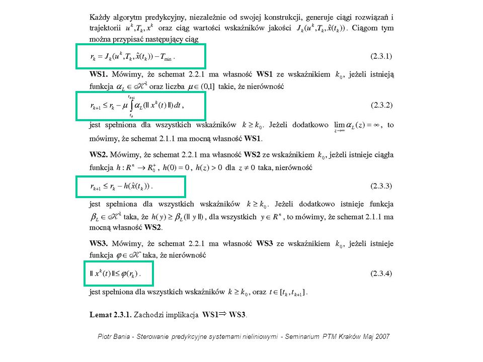 Lemat 2.3.1. Zachodzi implikacja WS1 WS3.