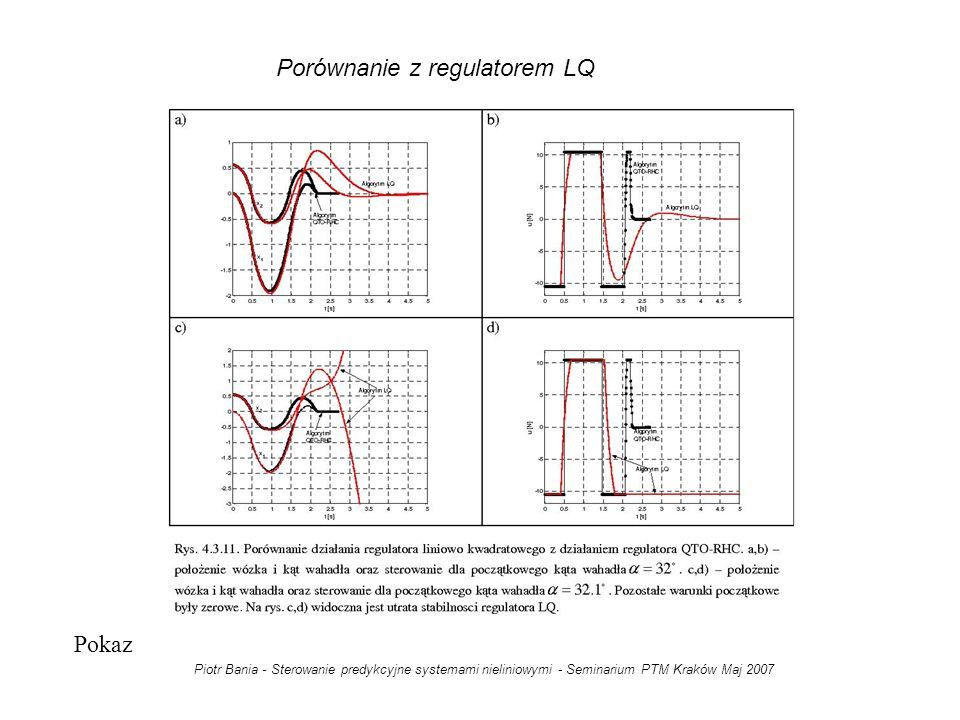 Porównanie z regulatorem LQ