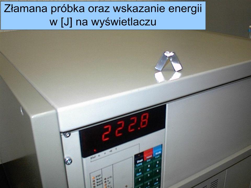 Metrotest Sp. z o. o. Próby udarnościowe wykonywane są na maszynie Zwick 5111.