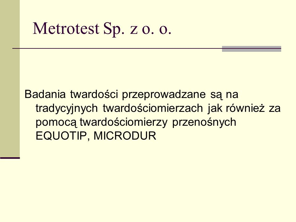 Metrotest Sp. z o. o.