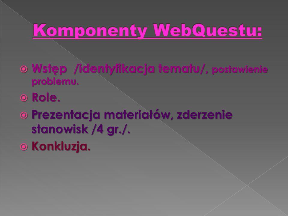 Komponenty WebQuestu: