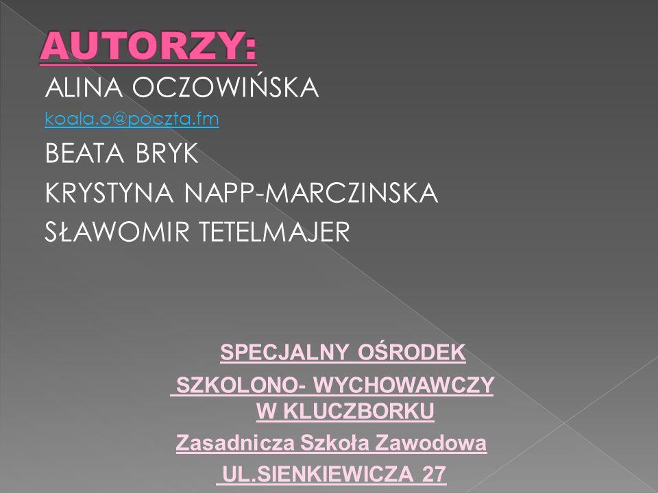 SZKOLONO- WYCHOWAWCZY W KLUCZBORKU Zasadnicza Szkoła Zawodowa
