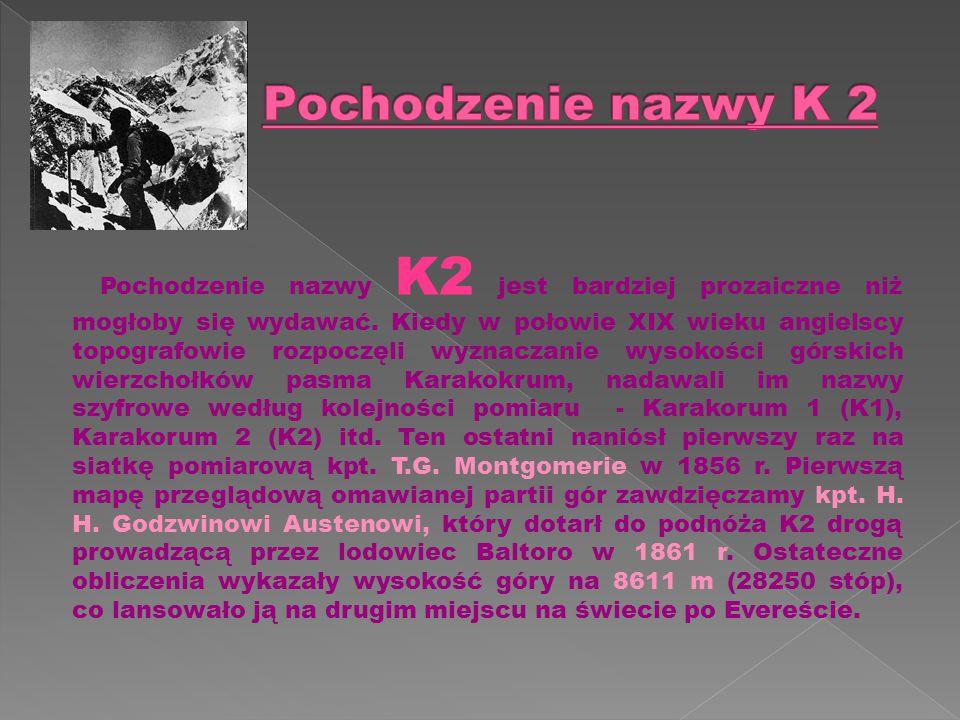Pochodzenie nazwy K 2