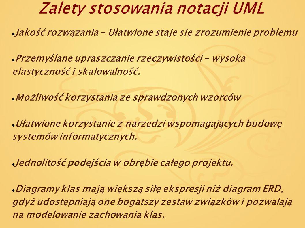 Zalety stosowania notacji UML