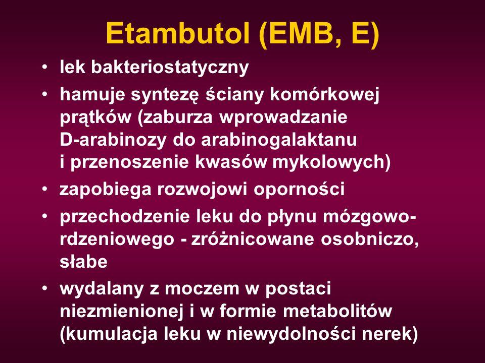 Etambutol (EMB, E) lek bakteriostatyczny