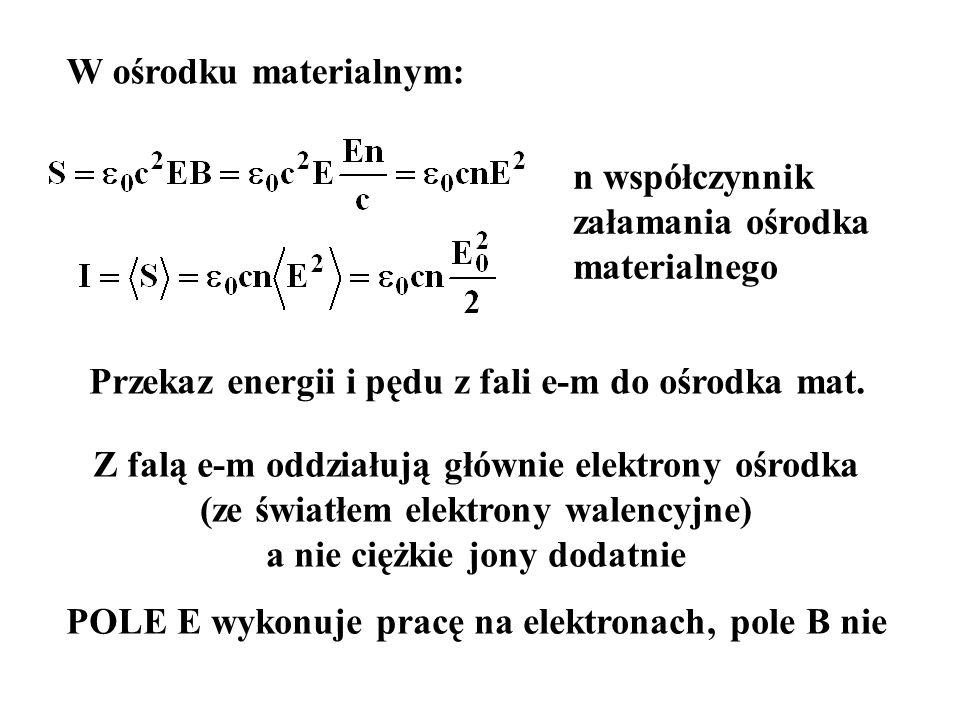 POLE E wykonuje pracę na elektronach, pole B nie
