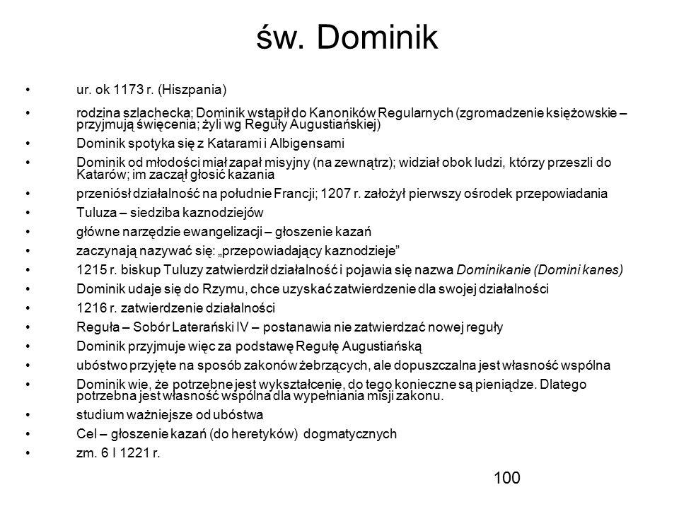 św. Dominik ur. ok 1173 r. (Hiszpania)