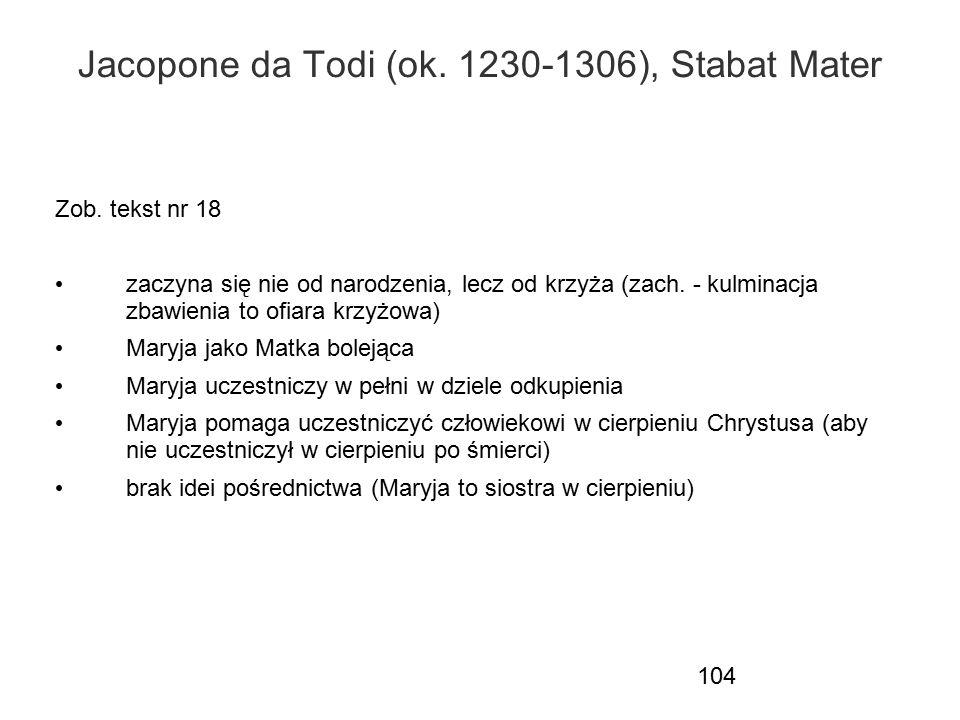 Jacopone da Todi (ok. 1230-1306), Stabat Mater