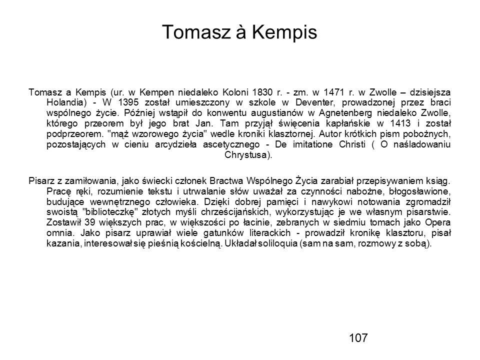 Tomasz à Kempis