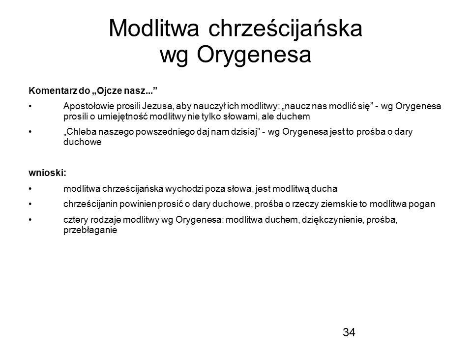 Modlitwa chrześcijańska wg Orygenesa
