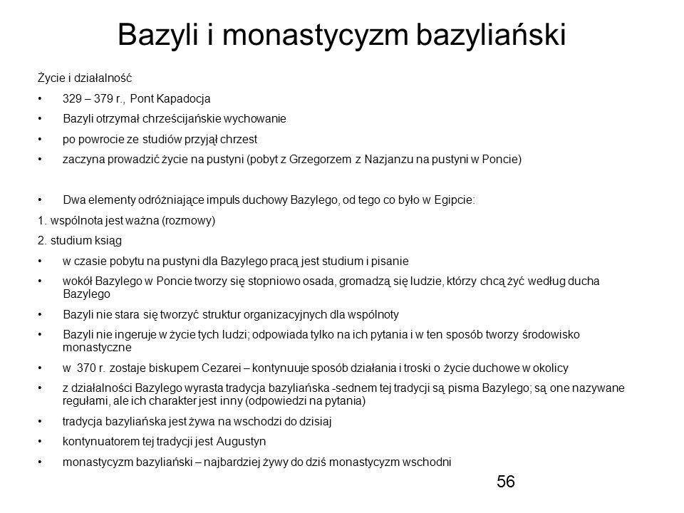 Bazyli i monastycyzm bazyliański