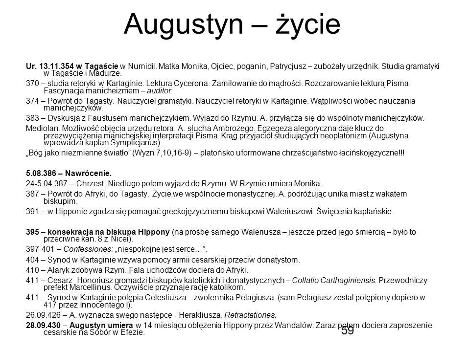 Augustyn – życie