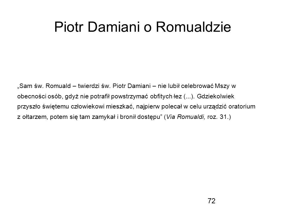 Piotr Damiani o Romualdzie