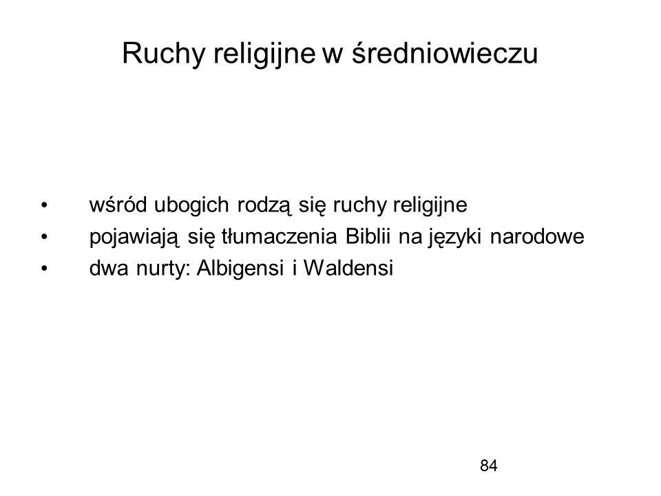 Ruchy religijne w średniowieczu